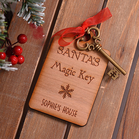 Personalised Wooden Santa's Magic Key