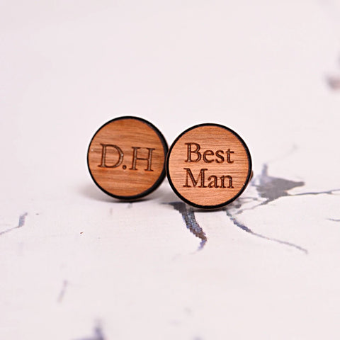 Best Man Initial Cufflinks