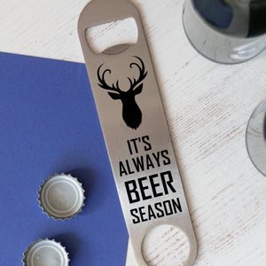 Christmas Stag Stainless Steel Bottle Opener