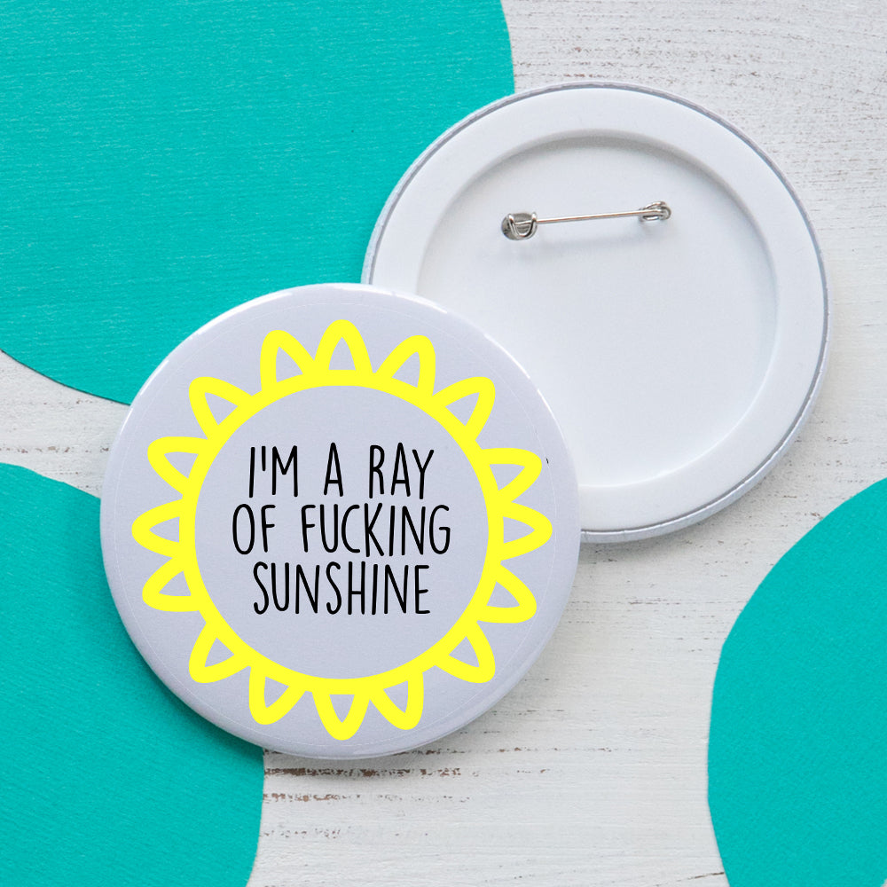 Ray of Sunshine - Large badge