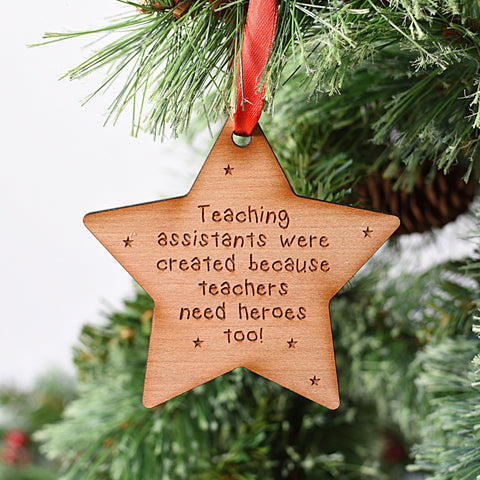 Teaching Assistant Star Tree Decoration