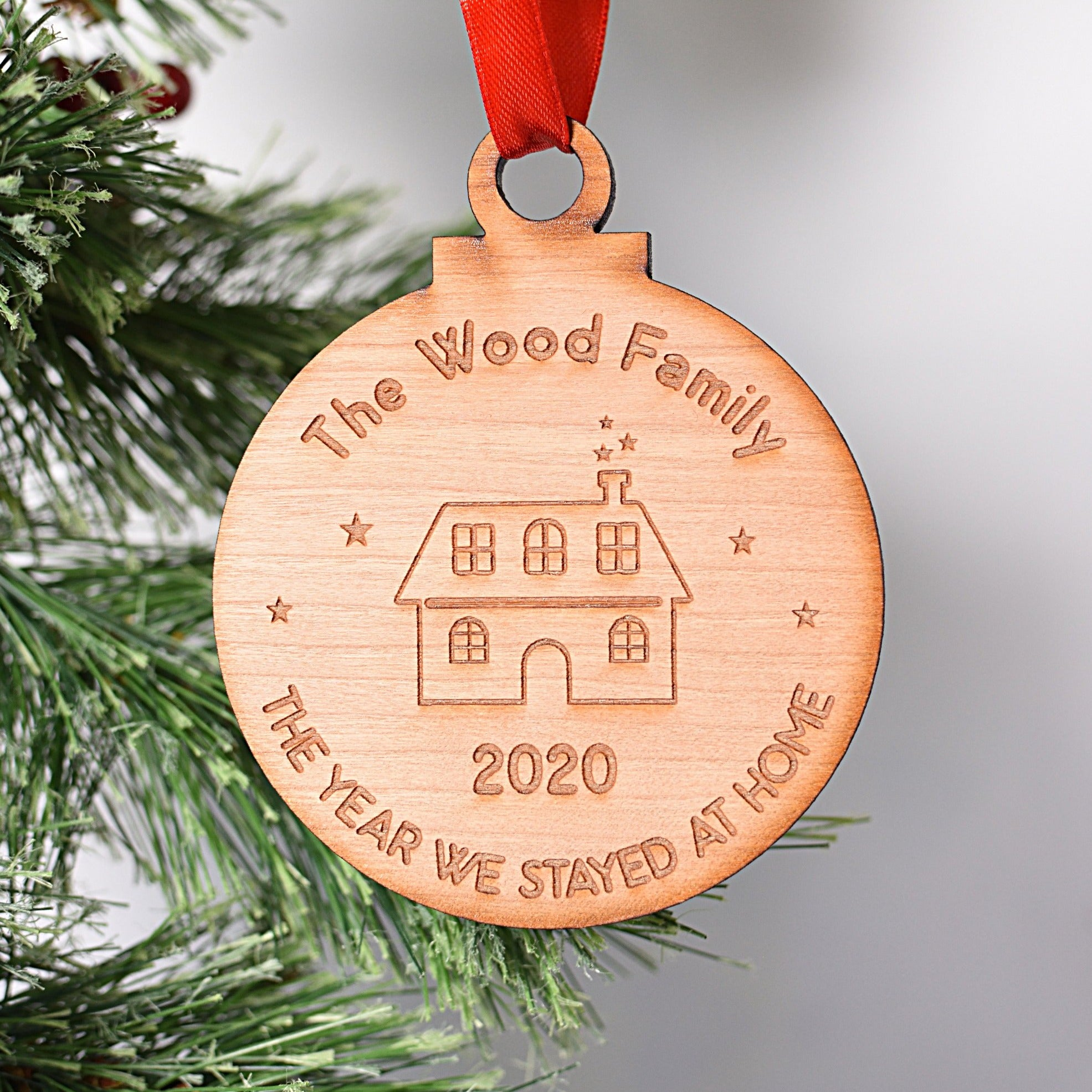 The Year We Stayed at Home Family Tree Decoration