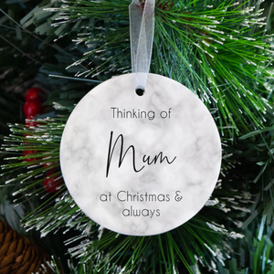 At Christmas & Always Memory Tree Decoration