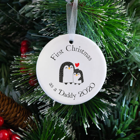 First Christmas As A Daddy Penguin Tree Decoration