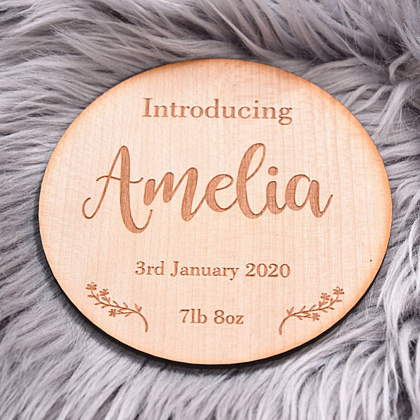 Introducing Baby Name Announcement Disc