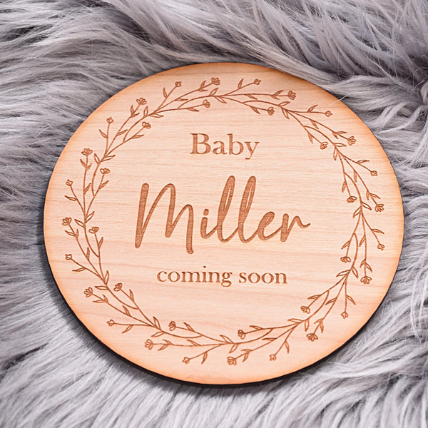 Coming Soon Baby Announcement Disc