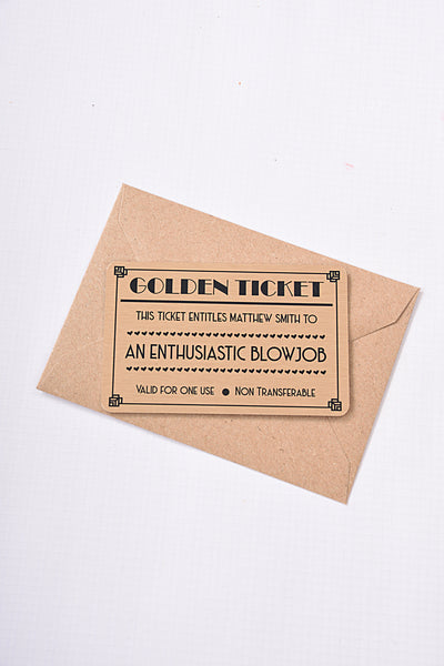 Aluminium Everlasting Golden Ticket
