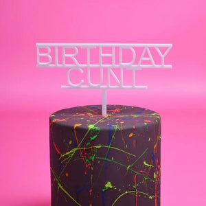 Birthday Cunt Cake Topper