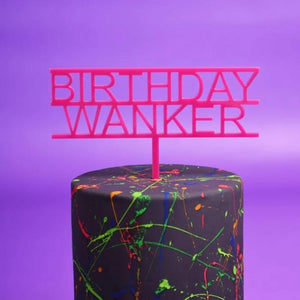 Birthday Wanker Cake Topper