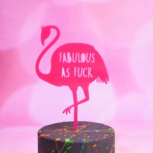 Fabulous Flamingo Cake Topper