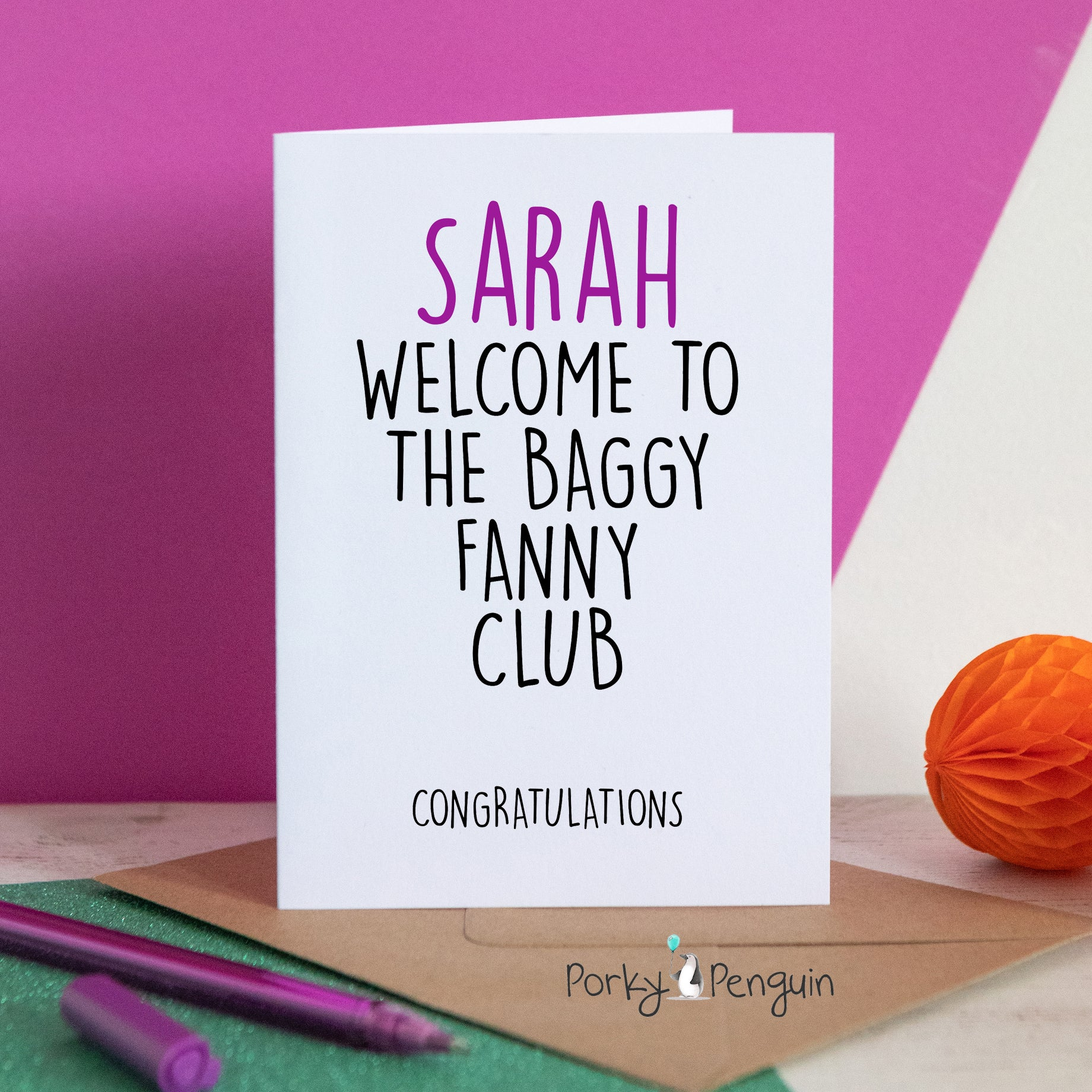 Personalised Baggy fanny club