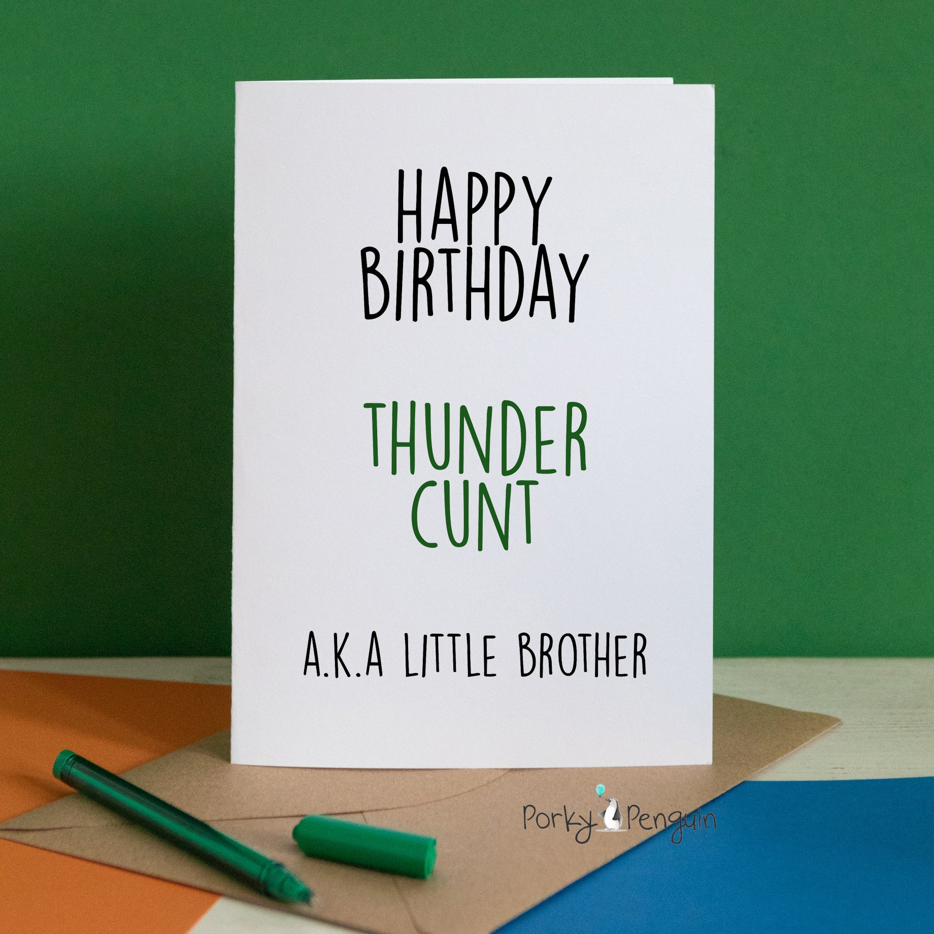 Thunder Cunt Little Brother Card