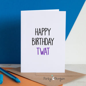 Twat Birthday Card