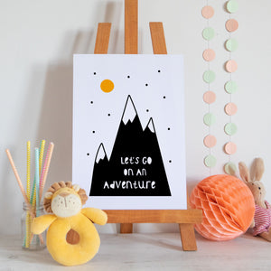 Let's Go On An Adventure Scandi Style Nursery Print