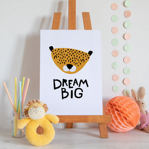 Dream Big Scandi Style Nursery Print