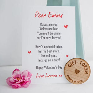 Wooden Valentine's Gift Token for your Bestie!