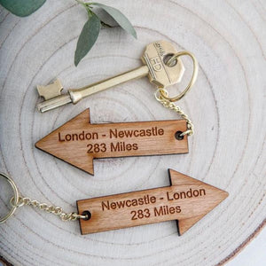 Long Distance Arrow Keyrings