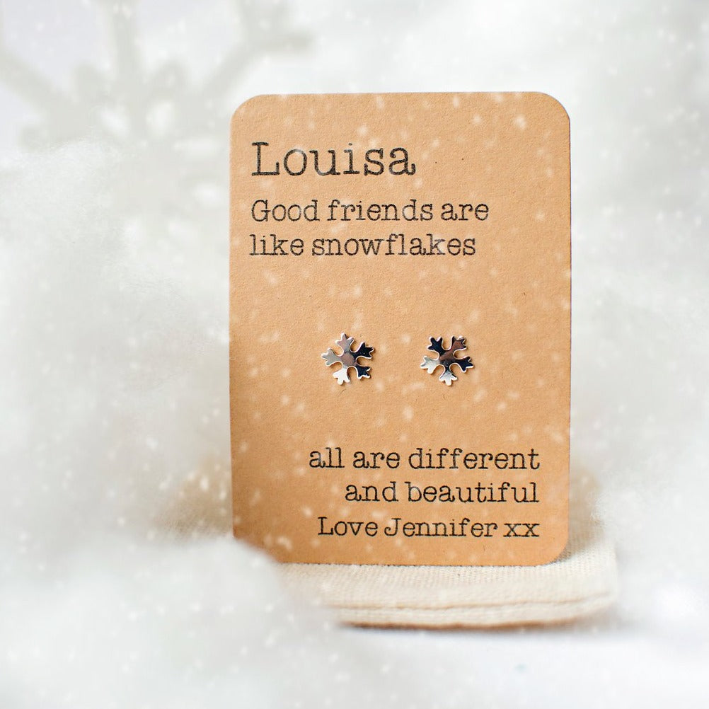 Snowflakes Are Like Friends Earrings