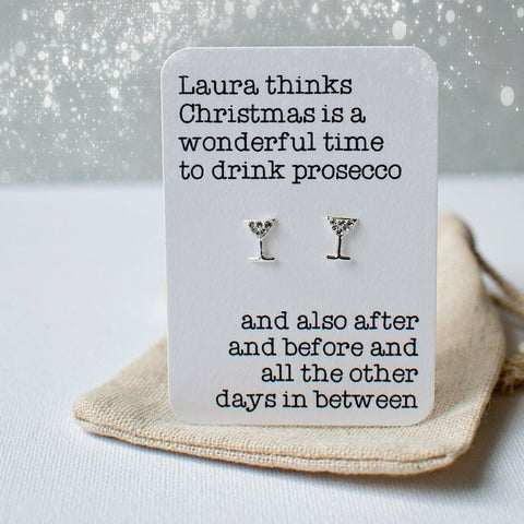 Christmas Drink Earrings
