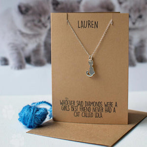 Cats are a girls best friend necklace