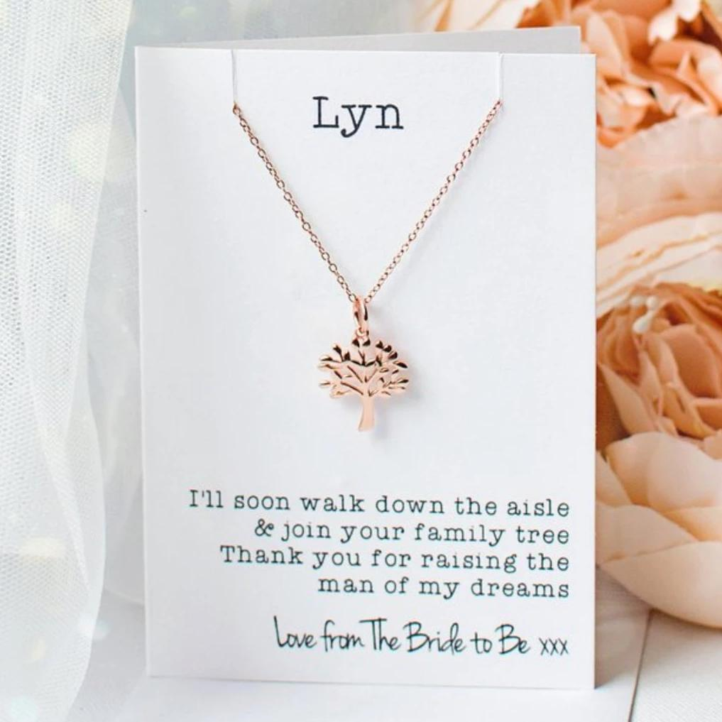 Mother of the Groom tree necklace - Rose Gold