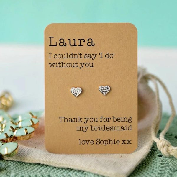 I couldn't say 'I do' without you - Freshwater pearl earrings