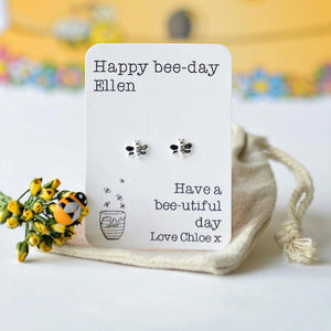 Happy Bee-day earrings