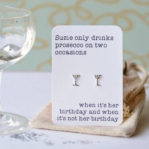 Birthday Prosecco Earrings
