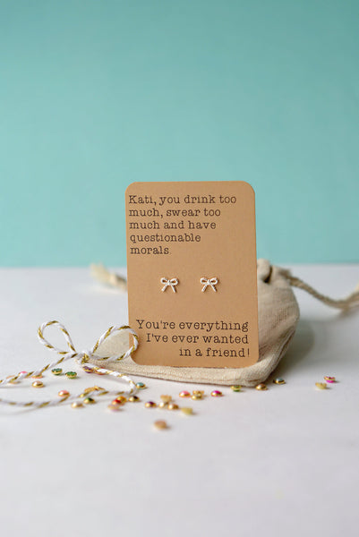 You swear too much - Friend earrings