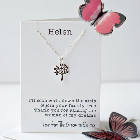 Mother of the bride tree necklace