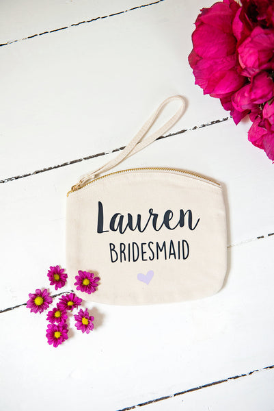 Bridesmaid Make up bag