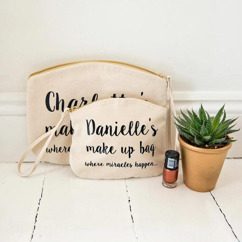 Where miracles happen! Make up bag