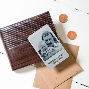 Aluminium Everlasting Wallet Photo Card With Wording