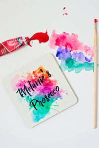 Colour splash drink coaster