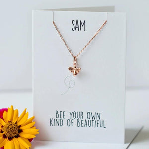 Bee your kind of beautiful - Rose gold vermeil