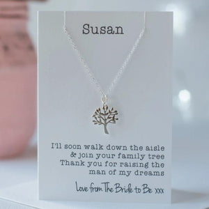 Mother of the groom tree necklace