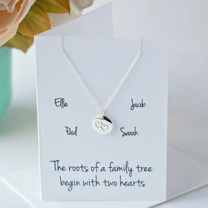 Roots of a family tree begin with two hearts