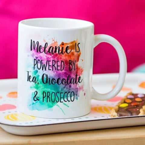 Colour splash personalised mug