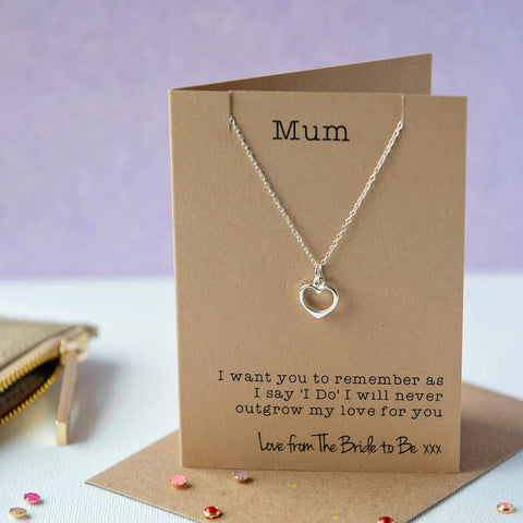 Mother of the bride heart Necklace