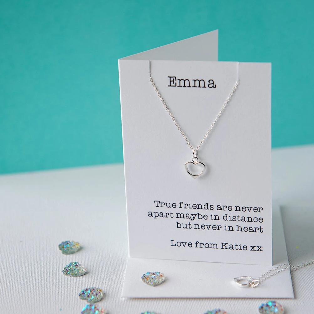 True friends heart necklace