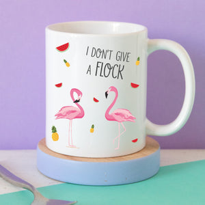 I don't give a flock flamingo mug