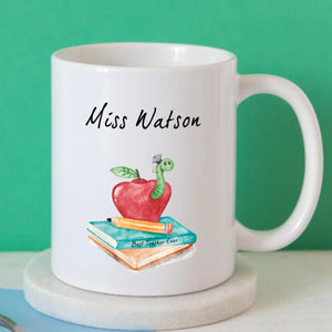 Book Worm Teacher Mug