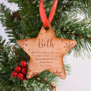 Personalised Friend Star Bauble