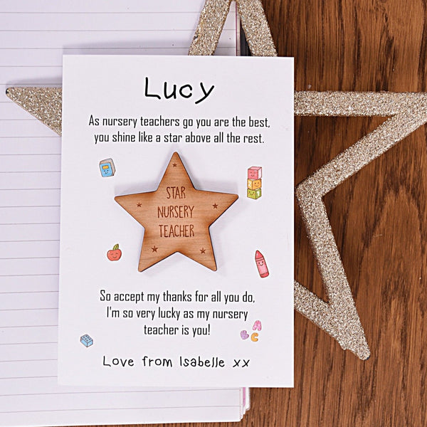 Shine Like A Star - Nursery Teacher Magnet