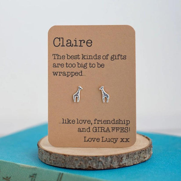 Love, friendship and Giraffe Earrings