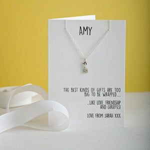 Love, friendship and Giraffe Necklace