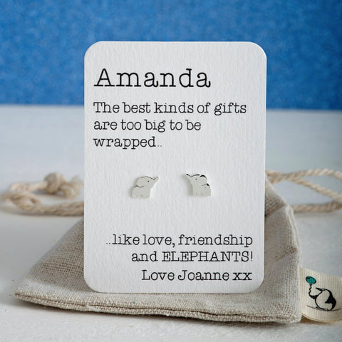 Love, friendship and Elephant Earrings