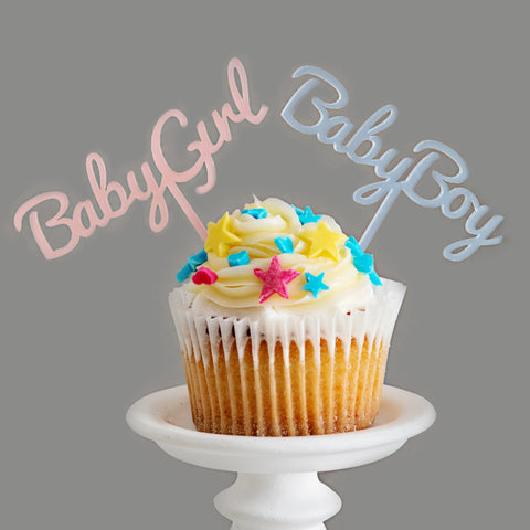 Pack of 5 Baby cupcake toppers (boy or girl)