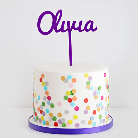 One Name Cake Topper
