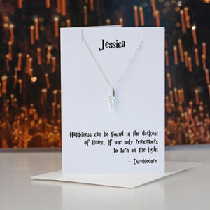 Harry Potter quote necklace - Dumbledore